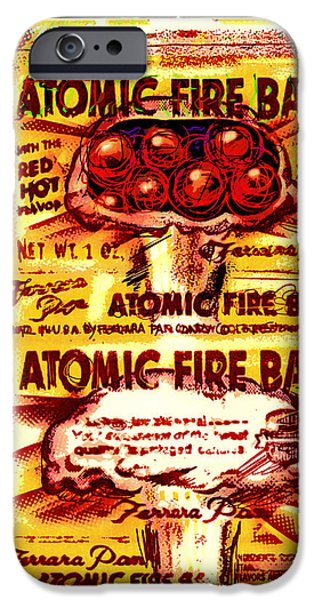 Cardboard Mixed Media iPhone Cases - Atomic Fire Ball iPhone Case by Russell Pierce