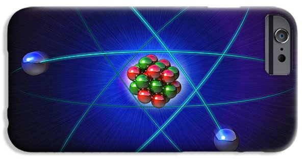 Atom Photographs iPhone Cases - Atomic Structure iPhone Case by Roger Harris
