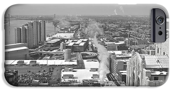 City Scape iPhone Cases - Atop the Guardian  iPhone Case by Michael Peychich