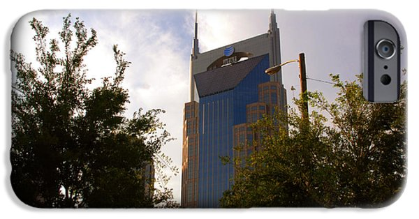 Nashville Architecture iPhone Cases - ATT and Batman are the same iPhone Case by Susanne Van Hulst