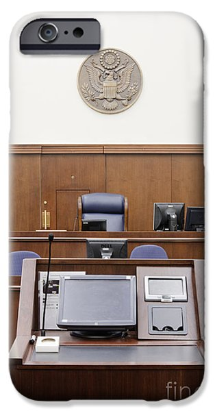 Electronic iPhone Cases - Attorney Podium Facing Judges Seat iPhone Case by Jeremy Woodhouse