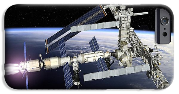 2000s iPhone Cases - Atv Boosting The Iss, Artwork iPhone Case by David Ducros