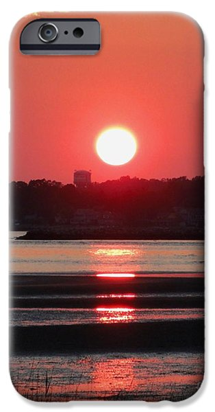 Reflection Of Sun In Clouds iPhone Cases - Aura of a sunset iPhone Case by Meandering Photography