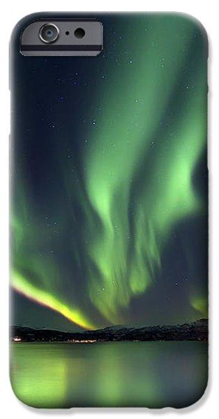 Aurora Borealis Over Tjeldsundet iPhone Case by Arild Heitmann