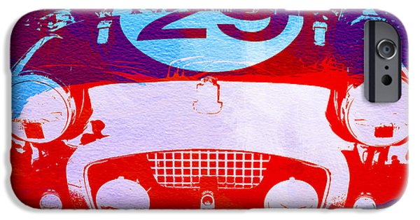 Driver iPhone Cases - Austin Healey bugeye iPhone Case by Naxart Studio