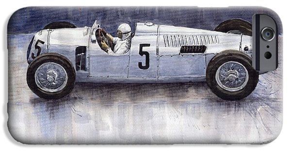Auto iPhone Cases - Auto Union 1936 Type C iPhone Case by Yuriy  Shevchuk