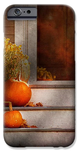 Autumn - Halloween - We're all happy to see you iPhone Case by Mike Savad