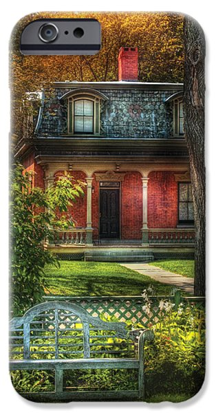 Autumn - House - The Estates iPhone Case by Mike Savad