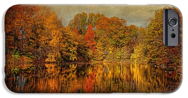 Autumn Scenes iPhone Cases - Autumn - Landscape - Tamaques Park - Autumn in Westfield NJ  iPhone Case by Mike Savad