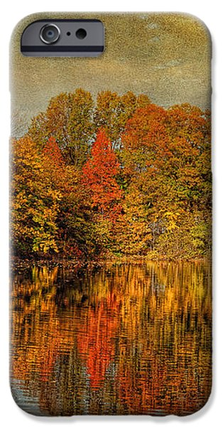 Autumn - Landscape - Tamaques Park - Autumn in Westfield NJ  iPhone Case by Mike Savad