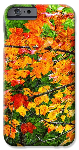 Autumn Abstract Painterly iPhone Case by Andee Design