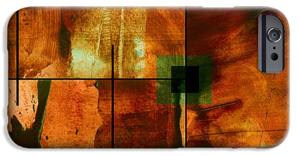 Abstract Expressionist Mixed Media iPhone Cases - Autumn Abstracton iPhone Case by Ann Powell