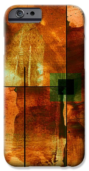Autumn Abstracton iPhone Case by Ann Powell