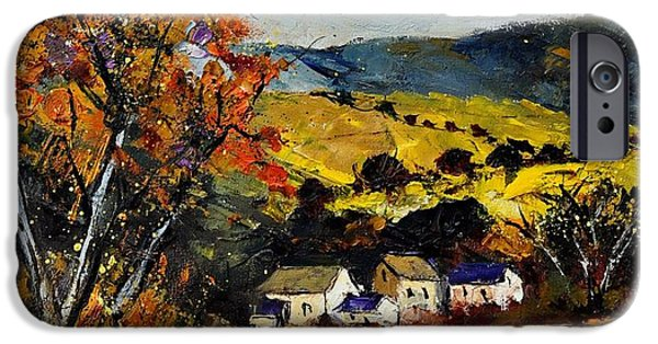 Recently Sold -  - Village iPhone Cases - Autumn and village  iPhone Case by Pol Ledent