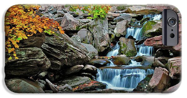 Autumn iPhone Cases - Autumn at Kaaterskill iPhone Case by Rick Berk