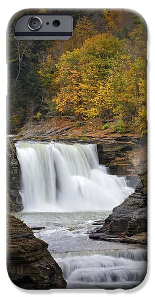 Autumn Photographs iPhone Cases - Autumn at the Lower Falls iPhone Case by Rick Berk
