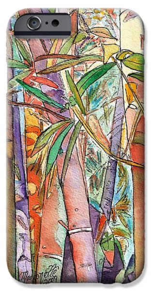 Autumn Bamboo iPhone Case by Marionette Taboniar