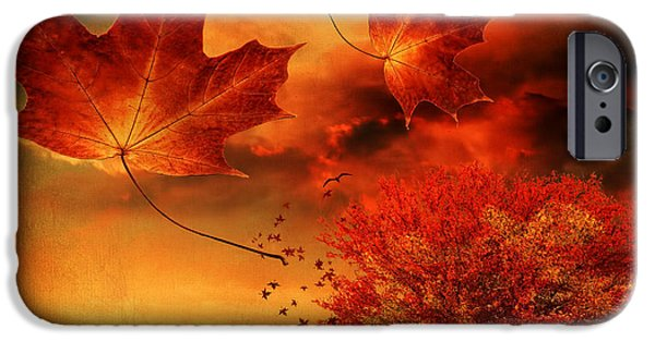 Norway iPhone Cases - Autumn Blaze iPhone Case by Lourry Legarde