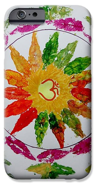 Mandal iPhone Cases - Autumn Chakra iPhone Case by Sonali Gangane