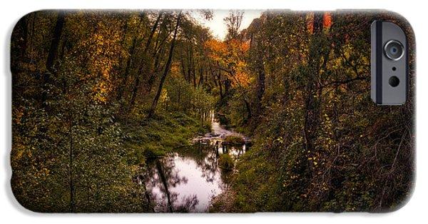 Oak Creek iPhone Cases - Autumn Creek  iPhone Case by Saija  Lehtonen