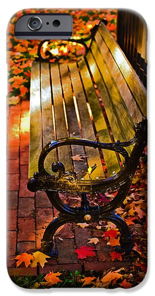 Boston Ma iPhone Cases - Autumn fever iPhone Case by Ludmila Nayvelt