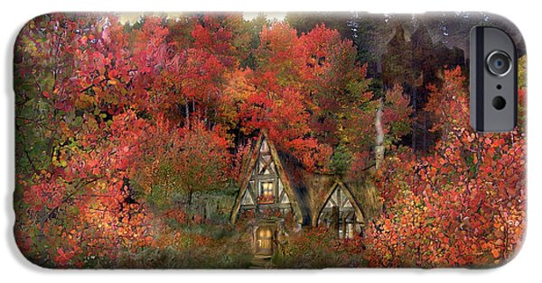 Autumn Scenes iPhone Cases - Autumn Hideaway iPhone Case by Carol Cavalaris