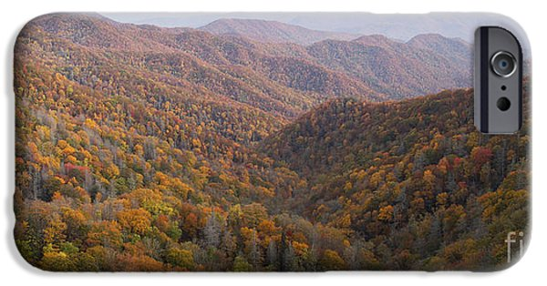 Autumn iPhone Cases - Autumn In Great Smokie Mountains National Park iPhone Case by Dustin K Ryan
