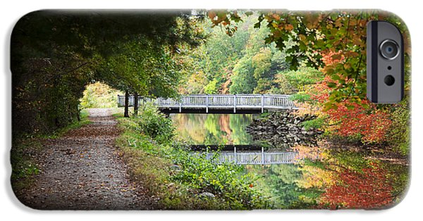 Blackstone River iPhone Cases - Autumn in New England iPhone Case by Jenna Szerlag