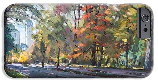 Autumn Landscape iPhone Cases - Autumn in Niagara Falls Park iPhone Case by Ylli Haruni
