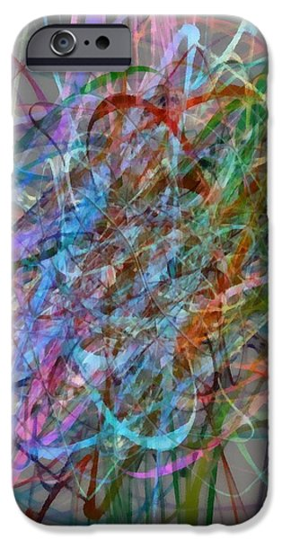Autumn Likes Lines iPhone Case by Michelle Calkins