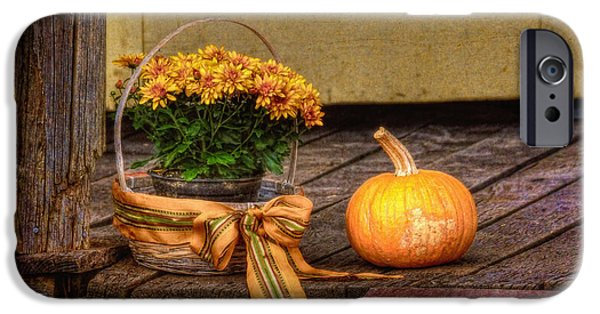Thanksgiving Digital iPhone Cases - Autumn iPhone Case by Lois Bryan