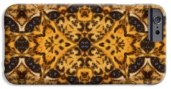 Daughter Gift iPhone Cases - Autumn Mandala iPhone Case by Georgiana Romanovna