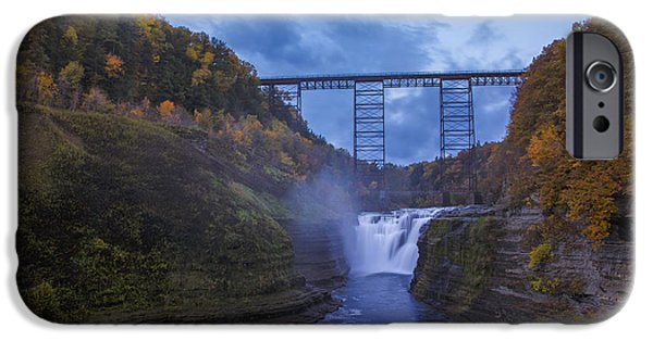 Autumn Photographs iPhone Cases - Autumn Morning At Upper Falls iPhone Case by Rick Berk