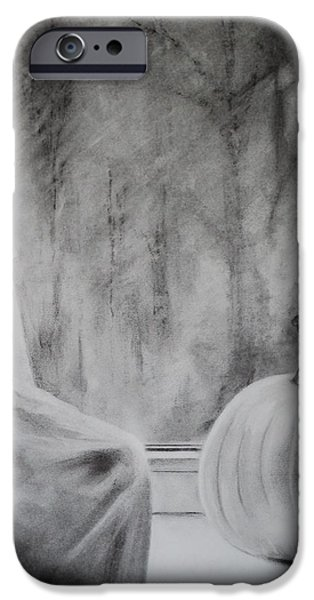 Autumn Drawings iPhone Cases - Autumn Rain iPhone Case by Carla Carson