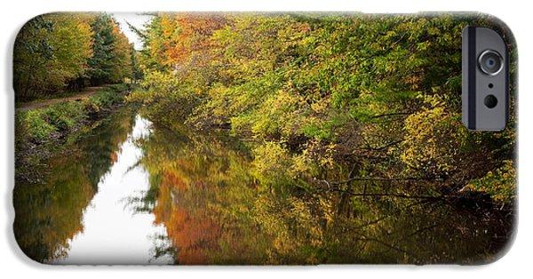 Blackstone River iPhone Cases - Autumn Reflections iPhone Case by Jenna Szerlag