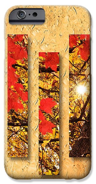 Autumn Sunrise Painterly Abstract iPhone Case by Andee Design