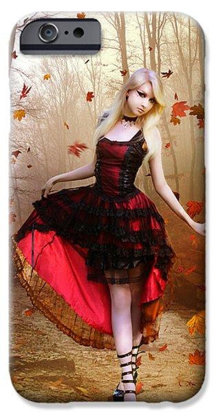 Autumn Waltz iPhone Case by Karen H