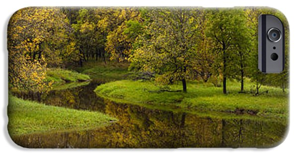 Creek Photographs iPhone Cases - Autumns Beauty Panorama iPhone Case by Mike Reid