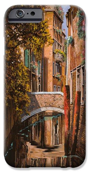 Sunset iPhone Cases - autunno a Venezia iPhone Case by Guido Borelli