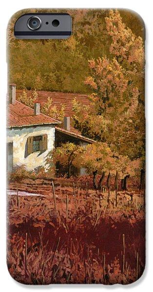 autunno rosso iPhone Case by Guido Borelli