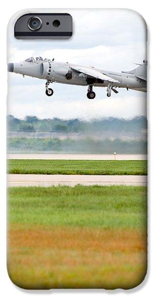 Smoke iPhone Cases - AV-8 Harrier iPhone Case by Sebastian Musial