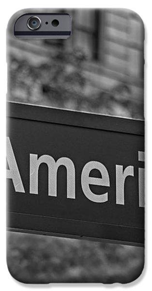 Avenue of the Americas iPhone Case by Susan Candelario