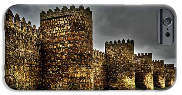 Spanien iPhone Cases - Avila - Town Walls iPhone Case by Juergen Weiss