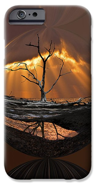 Abstract Seascape iPhone Cases - Awakening iPhone Case by Debra and Dave Vanderlaan