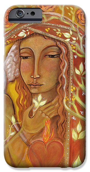 Visionary Paintings iPhone Cases - Awakening iPhone Case by Shiloh Sophia McCloud