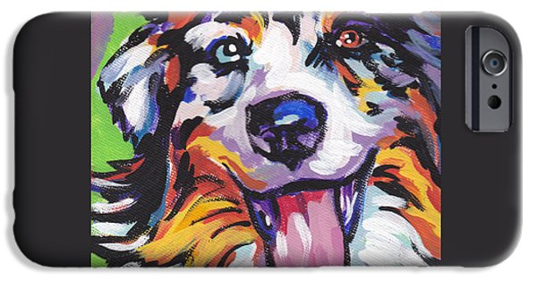 Dog iPhone Cases - Awesome Aussie iPhone Case by Lea