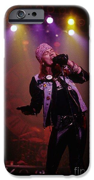 Axl Rose iPhone Cases - Axl Rose  iPhone Case by Rich Fuscia