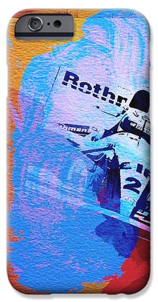 Ayrton Senna iPhone Case by Naxart Studio