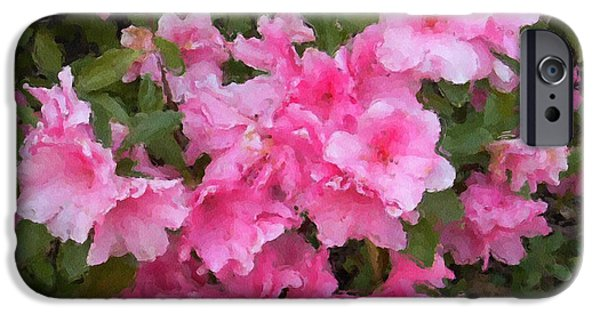 Althea iPhone Cases - Azalea watercolor  iPhone Case by Fred Jinkins