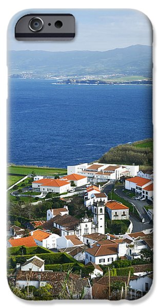 Village By The Sea iPhone Cases - Azores iPhone Case by Gaspar Avila